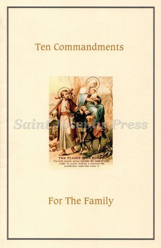 Ten Commandments for the Family Booklet