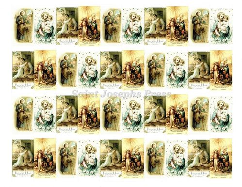 St. Joseph and the Child Jesus Stickers