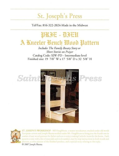 Prie-Dieu (Kneeler Bench) Wood Pattern