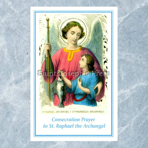 St. Raphael the Archangel Consecration Holy Card