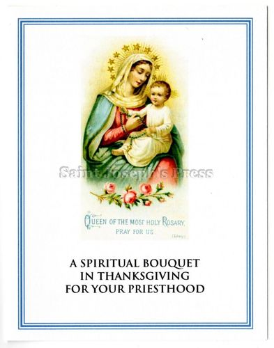 Spiritual Bouquet Card for Priests