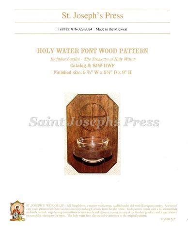 Holy Water Font Wood Pattern
