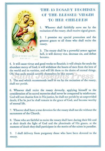 Fifteen Rosary Promises Deluxe Card