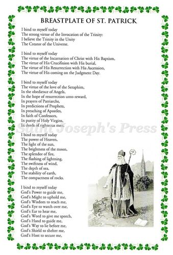 Breastplate of St. Patrick Deluxe Prayer Card