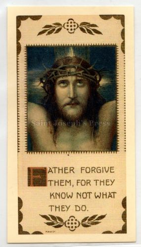 Seven Last Words of Christ Holy Card Set