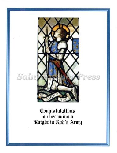 Confirmation Congratulations Card - St. Joan of Arc