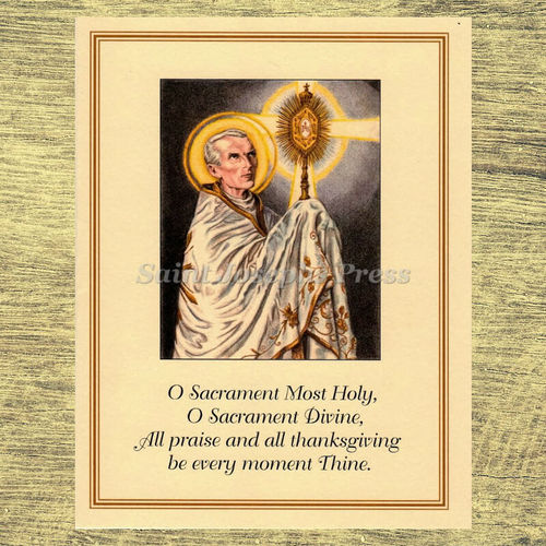 Spiritual Bouquet Adoration Card - Peter Julian Eymard
