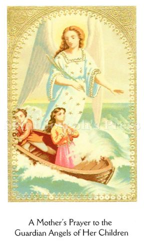 Mother's Prayer to Guardian Angel Holy Card