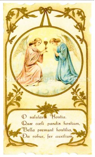 Send Your Angel to Mass Prayer Card