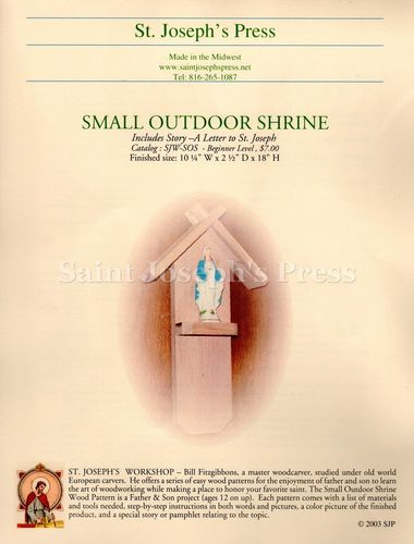 Small Outdoor Shrine Wood Plan