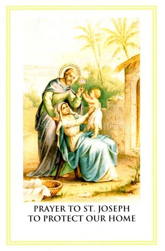 St. Joseph Protect Our Home Prayer Card