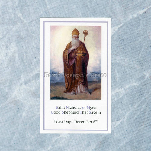 St. Nicholas Good Shepherd Prayer Card