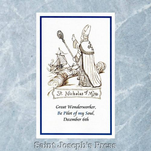 St. Nicholas Pilot of My Soul Holy Card