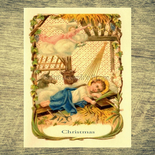 Crib and the Cross Christmas Cards Set