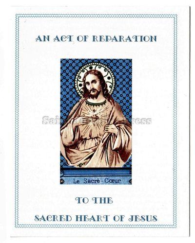 Act of Reparation to the Sacred Heart Card