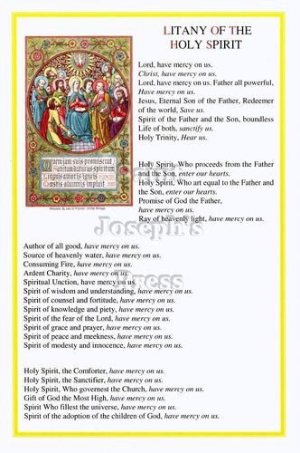Holy Spirit Litany Card