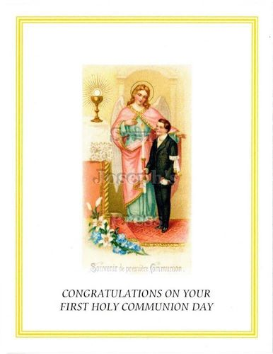 First Communion Congratulations Card #3