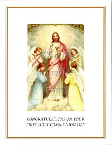 First Communion Congratulations Card #2