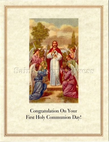 First Communion Congratulations Card #1