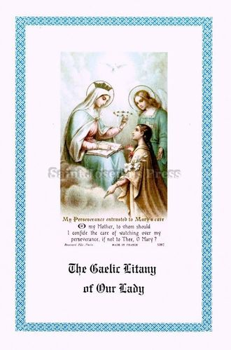 Gaelic Litany of Our Lady Prayer Card