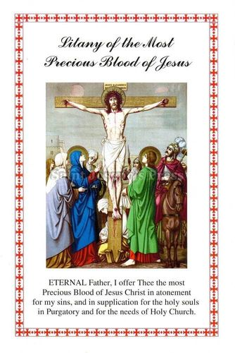 Most Precious Blood Litany Card