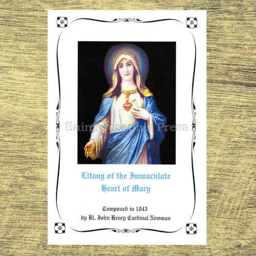 Litany of the Immaculate Heart of Mary Deluxe Holy Card