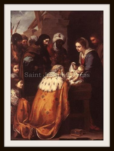 "Adoration of the Magi by Murillo 5"" x 7"" Print"