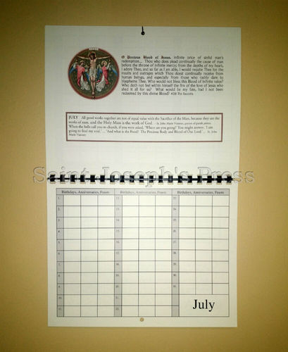 Catholic Remembrance Calendar