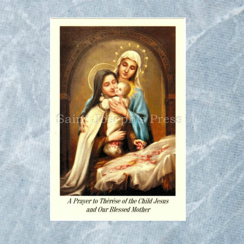 St. Therese and Blessed Mother Holy Card
