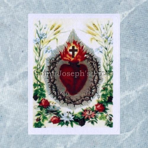 Sacred Heart Stickers - Set of 15