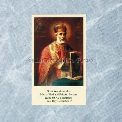 St. Nicholas Hope of All Christians Holy Card