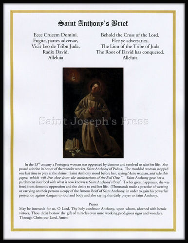 Saint Anthony's Brief and History Print
