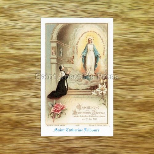 Saint Catherine Laboure Holy Card