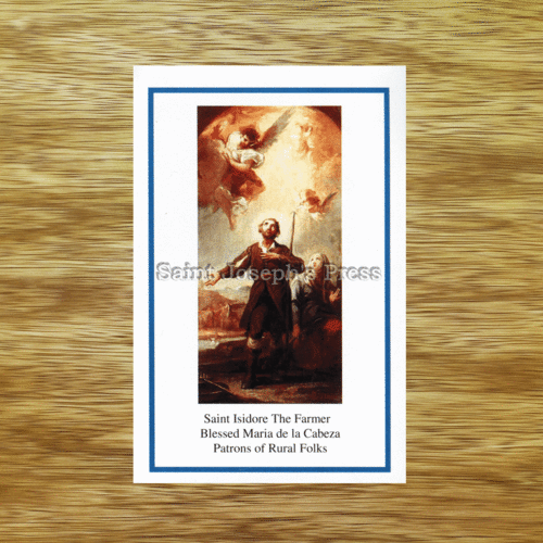 Saint Isidore the Farmer Holy Card