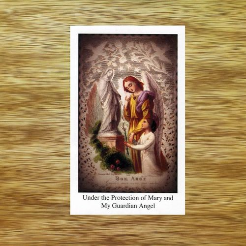 Blessed Virgin Mary Prayer Card - Lace Image