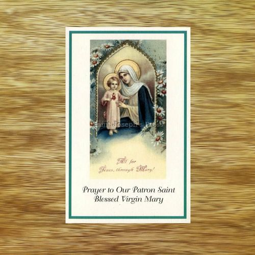 Patron Saint Holy Card - Blessed Virgin Mary