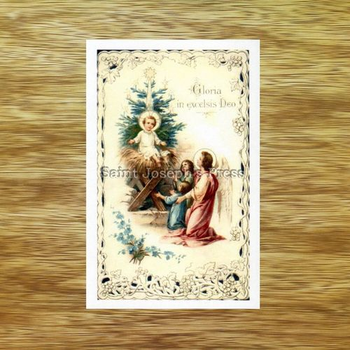Christ Child and Christmas Tree Holy Card
