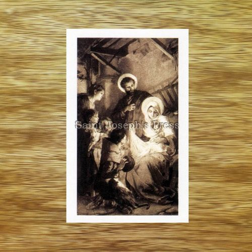 Holy Family Christmas Holy Card