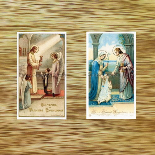 Custom First Communion Holy Cards
