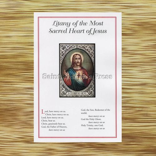Sacred Heart of Jesus Litany Card