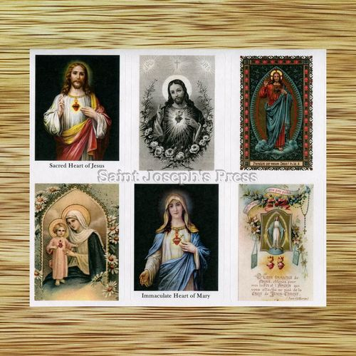Sacred Heart of Jesus and Immaculate Heart of Mary Stickers